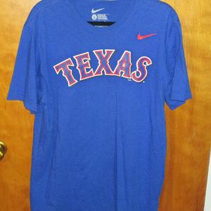 Nike Texas Rangers Regular Fit Blue Shirt L